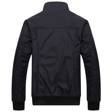 Load image into Gallery viewer, Mens Jackets Solid Color Stand Collar Slim Bomber Jackets