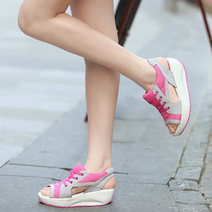 Summer Women Sandals Casual Mesh Breathable Shoes Woman Ladies Wedges Sandals