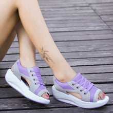 Load image into Gallery viewer, Summer Women Sandals Casual Mesh Breathable Shoes Woman Ladies Wedges Sandals