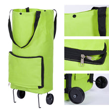 Load image into Gallery viewer, Foldable Multifunction Shopping Bag Cart Tug Trolley Case Wheels Reusable
