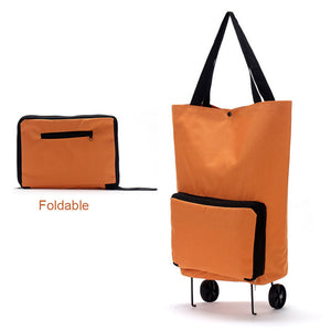 Foldable Multifunction Shopping Bag Cart Tug Trolley Case Wheels Reusable