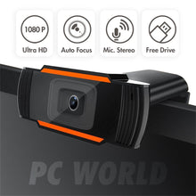 Load image into Gallery viewer, 1080P Webcam USB2.0 Computer Network Live Camera Network Camera Free Drive USB Cam Hd Camera