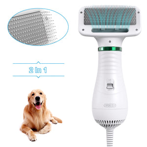 2-In-1 Portable Dog Dryer Dog Hair Dryer And Comb Brush Pet Grooming Cat Hair Comb