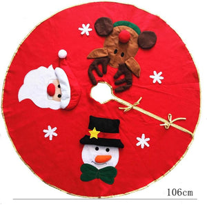 Red Christmas Tree decoration Carpet Party Ornaments
