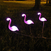 Load image into Gallery viewer, 3pcs/set LED Garden Light Solar Powered Flamingo Lawn Lamp For Outdoor Garden Decorative