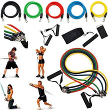 Load image into Gallery viewer, 11 Pcs Resistance Bands Set Training Exercise Yoga Tubes Pull Rope Equipment With Bag