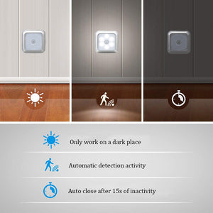 Smart Motion Sensor LED Night Lamp Battery Operated Pathway Night Light