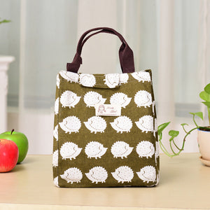 Portable Insulated Thermal Cooler Lunch Box Bento Tote Storage Bag