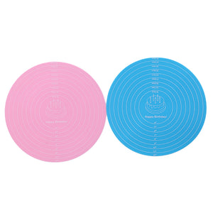 Multi-function Cooking Pad Round Silicone Placemat Cake Mat