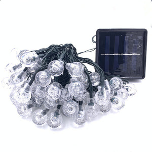 Solar LED Crystal Ball String Light 10M Waterproof Fairy Lights Garden Lawn Tree Outdoor Decoration