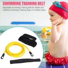 Load image into Gallery viewer, 3M Adjustable Swim Training Resistance Belt Swimming Bungee Safety Rope Exerciser