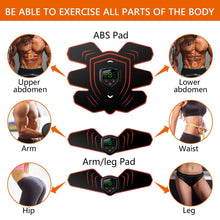Load image into Gallery viewer, EMS Muscle Electro Stimulator Abdominal Muscle Toner Abs Trainer with LCD Display USB Rechargeable Fitness Training Gear Ab Belt