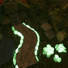 Load image into Gallery viewer, 50Pcs Glow in the Dark Garden Pebbles Glow Stones Rocks for Walkways Garden Path Patio Lawn Garden Yard Decor