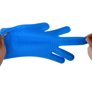 Silicone Oven Kitchen Glove Heat Resistant Thick Cooking BBQ Grill Glove