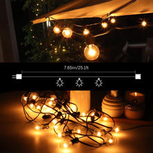 Load image into Gallery viewer, 25Ft G40 Globe Bulb String Lights With 25 Clear Ball Vintage Bulbs Indoor/Outdoor Hanging Umbrella Patio String Lighting