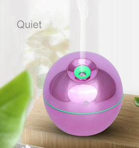 130ML 7 Color LED Light Ultrasonic Humidifier Aroma Essential Steam Diffuser Home Office USB Charging