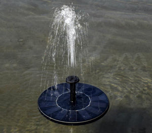 Mini Solar Power Water Fountain Garden Pool Pond 30-45cm Outdoor Solar Panel Water Fountain