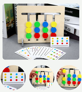 Colors and Fruits Double Sided Matching Game Kids Educational Toys