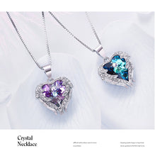 Load image into Gallery viewer, 925 Sterling Silver Necklace Embellished with crystals from Swarovski Pendants Necklace Angel Wings Necklaces