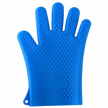 Load image into Gallery viewer, Silicone Oven Kitchen Glove Heat Resistant Thick Cooking BBQ Grill Glove