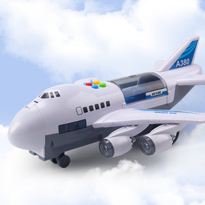 Music Story Simulation Track Inertia Children's Toy Aircraft Large Size Passenger Plane Kids Airliner Toy