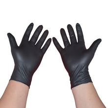 Load image into Gallery viewer, 100PCS Black Disposable Gloves Latex Dishwashing/Kitchen/Medical Gloves