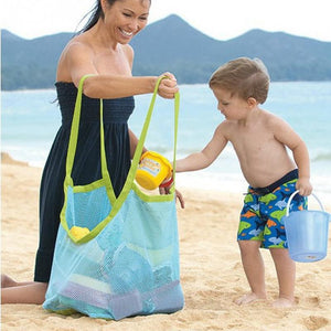 Mom Baby Beach Bags Women Kids Mesh Bag Big Size Storage Handbag
