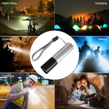 Load image into Gallery viewer, USB Rechargable Mini LED Flashlight 3 Lighting Mode Waterproof Torch Telescopic Zoom Stylish Portable Suit
