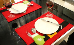 4PCS/Pack Dining Room Table Placemats with Knife Fork Covers