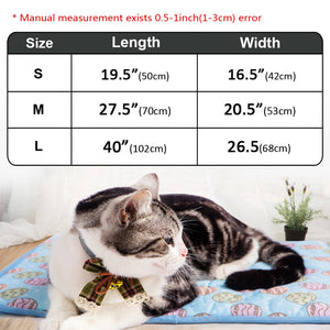 Summer Cooling Mats Blanket Ice Pet Dog Bed Mats For Dogs Cats