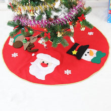 Load image into Gallery viewer, Red Christmas Tree decoration Carpet Party Ornaments