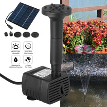 Load image into Gallery viewer, Solar Panel for Power Fountain Garden Water Pond Pump