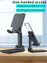 Load image into Gallery viewer, Metal Desktop Tablet Holder Foldable Extend Support Desk Mobile Phone Holder Stand