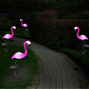 3pcs/set LED Garden Light Solar Powered Flamingo Lawn Lamp For Outdoor Garden Decorative