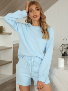 Women's Comfortable Pajamas Two-Piece Suit with Pockets
