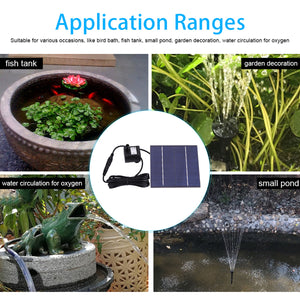 Solar Panel for Power Fountain Garden Water Pond Pump
