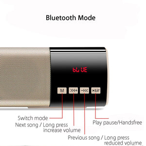 Portable Wireless HiFi Bluetooth Soundbar Speaker with Clock
