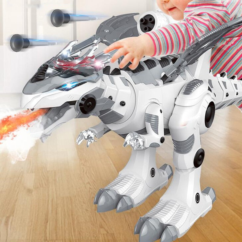 Electronic Pets Walking Spray Dinosaur Lighting Electric Toys for Kids Children