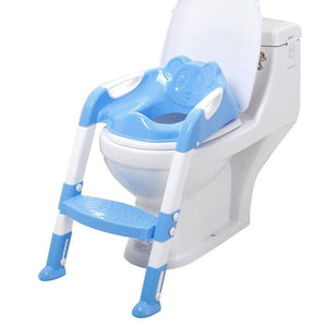 Baby Toddler Potty Toilet Trainer Seat Step Stool Ladder Adjustable Training Chair