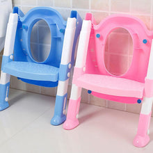Load image into Gallery viewer, Baby Toddler Potty Toilet Trainer Seat Step Stool Ladder Adjustable Training Chair