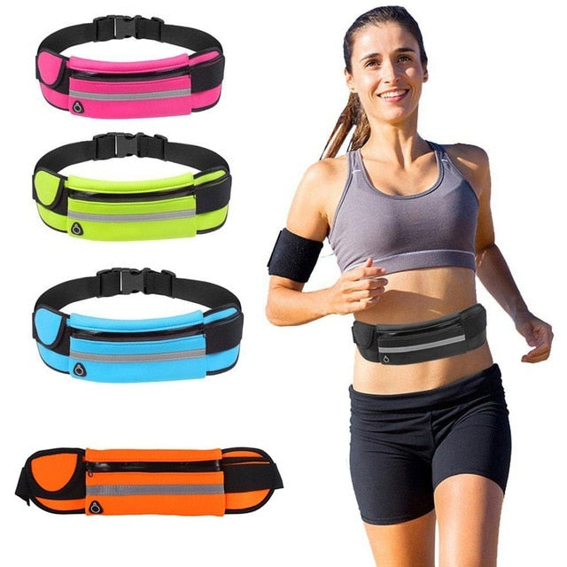 Outdoor Running Waist Bag Waterproof Mobile Phone Holder Gym Fitness Bag
