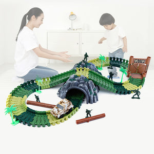 Create-a-Track Dino World Track Playset