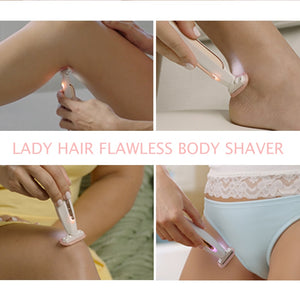 Electric Lady Shaver Razor Flawless Body Hair Shaver Painless Bikini Trimmer