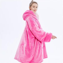 Load image into Gallery viewer, Ultra Plush Blanket Hoodie Soft and Warm Blanket Hooded