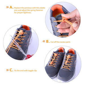 Outdoor Sports Shoelace 120CM Reflective Lace Elastic Running Riding Hiking No Tie Shoe Lace