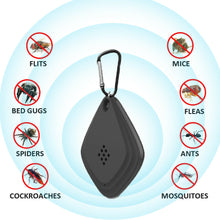 Load image into Gallery viewer, Portable USB Mosquito Repeller Ultrasonic Electronic Cockroach Spider Killer Pest