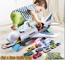 Load image into Gallery viewer, Music Story Simulation Track Inertia Children's Toy Aircraft Large Size Passenger Plane Kids Airliner Toy