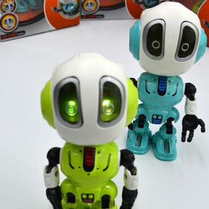 Smart Robot Toy Electronic Action Figure Toy Intelligent Sound Recording Function Alloy Robot LED Lighting Toys