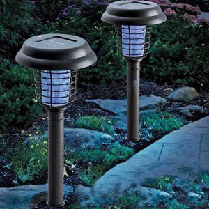 Solar Powered Insect Killer LED UV Mosquito Killer Lamp with Solar Power LED Garden Lights