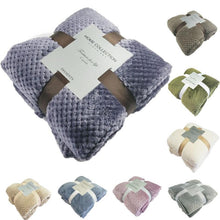 Load image into Gallery viewer, Soft Flannel Fleece Throw Blanket Mat for Sofa Bed